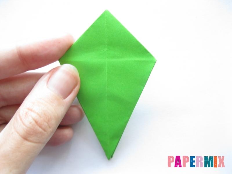 Как сделать пальму из бумаги (оригами) поэтапно - шаг 7