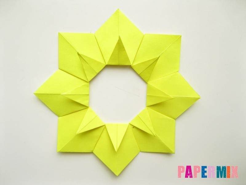 Как сделать подсолнух (оригами) своими руками - шаг 12