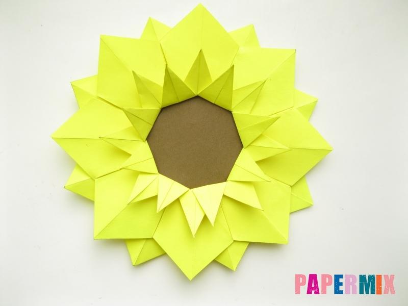 Как сделать подсолнух (оригами) своими руками - шаг 17