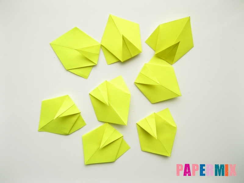 Как сделать подсолнух (оригами) своими руками - шаг 9