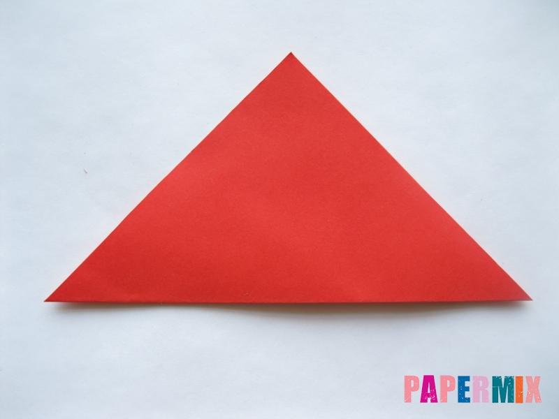 Как сделать простой тюльпан из бумаги поэтапно - шаг 2