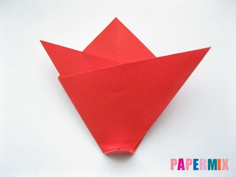 Как сделать простой тюльпан из бумаги поэтапно - шаг 7