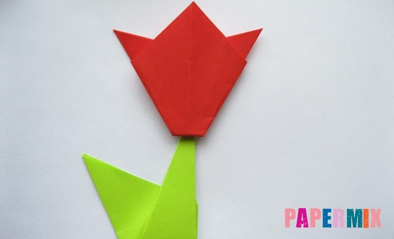 Как сделать простой тюльпан из бумаги (оригами) своими руками