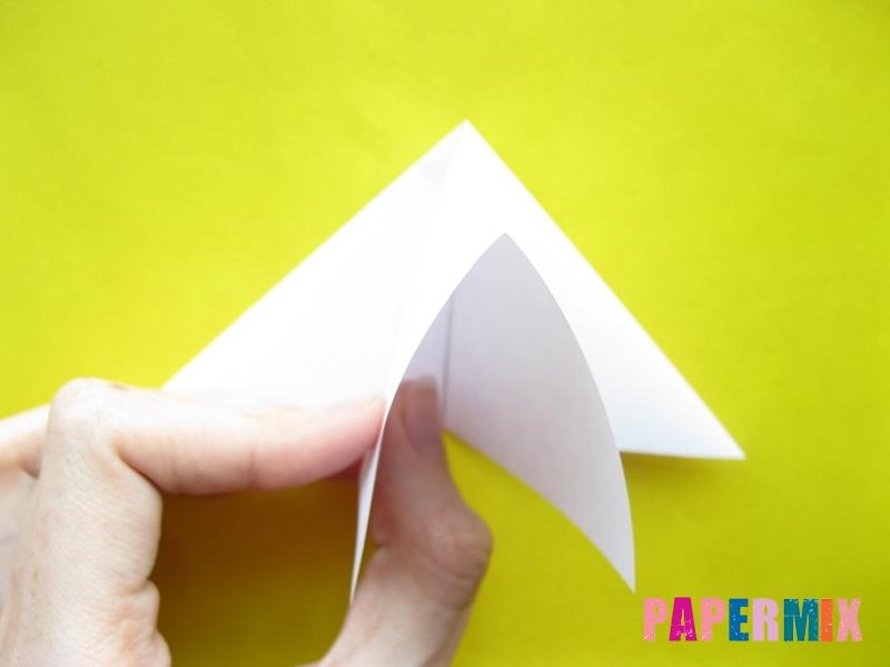 Как сделать розу из бумаги (оригами) поэтапно - шаг 6