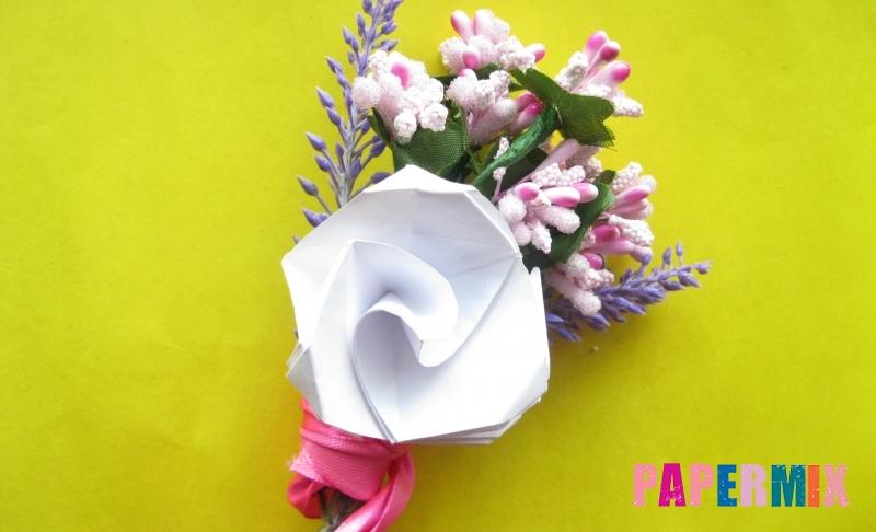 Как сделать розу из бумаги в технике оригами своими руками поэтапно