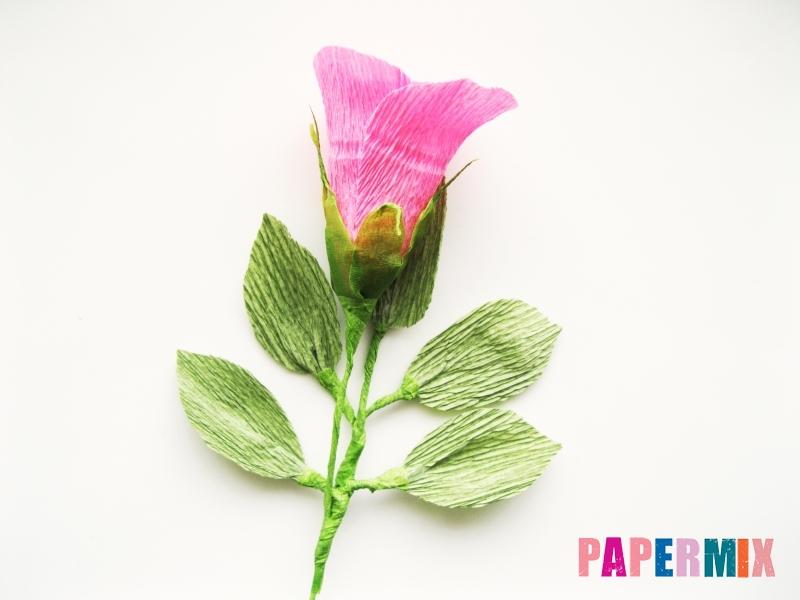 Как сделать розу из гофрированной бумаги поэтапно - шаг 21
