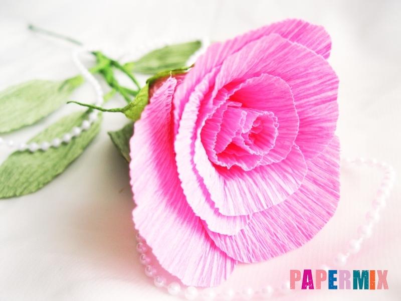 Как сделать розу из гофрированной бумаги поэтапно - шаг 22