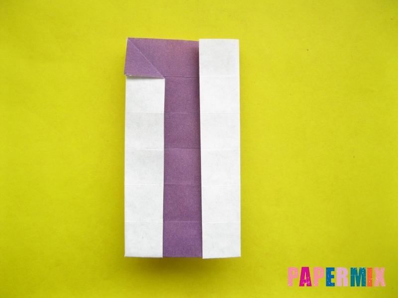 Как сделать цифру 1 из бумаги (оригами) своими руками - шаг 13