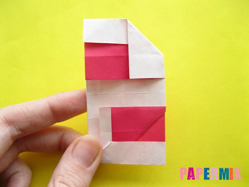 Как сделать цифру 2 из бумаги (оригами) своими руками - шаг 17