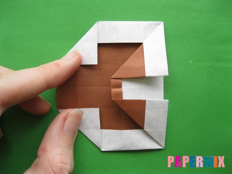 Как сделать цифру 3 из бумаги (оригами) своими руками - шаг 13