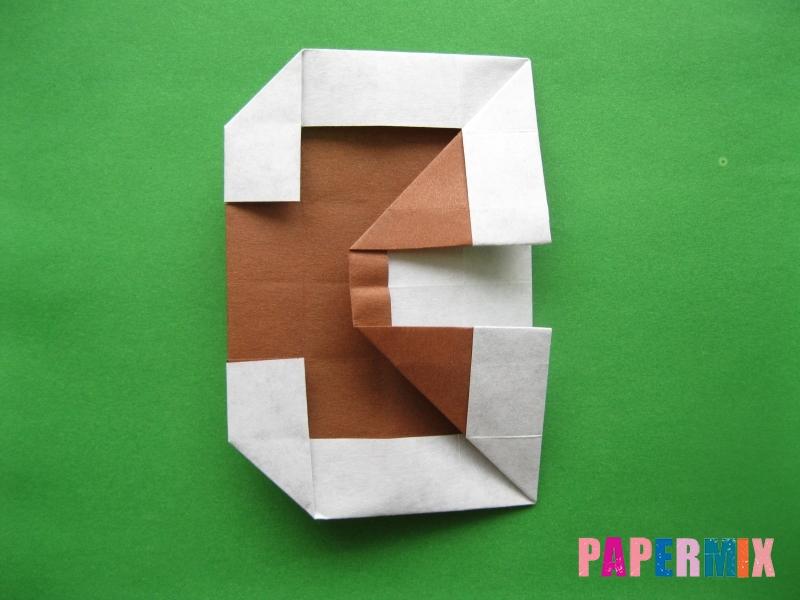Как сделать цифру 3 из бумаги (оригами) своими руками - шаг 14