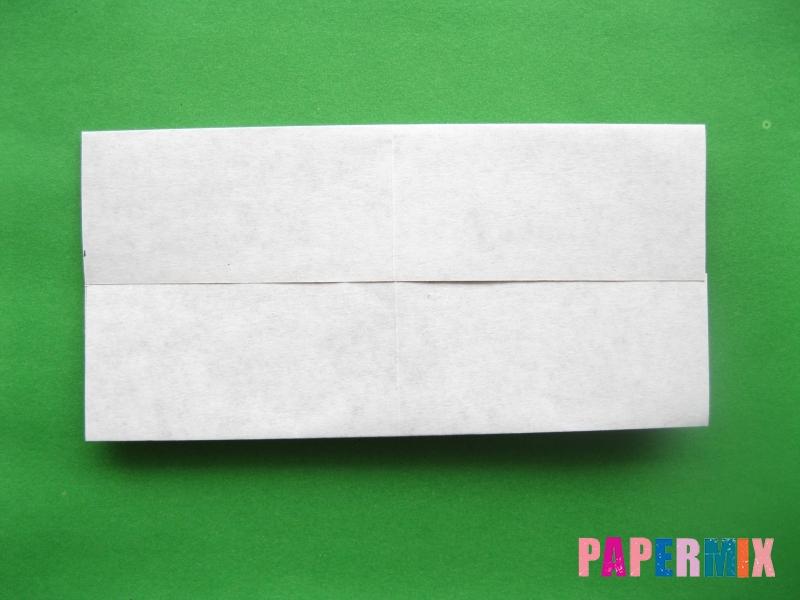 Как сделать цифру 3 из бумаги (оригами) своими руками - шаг 2