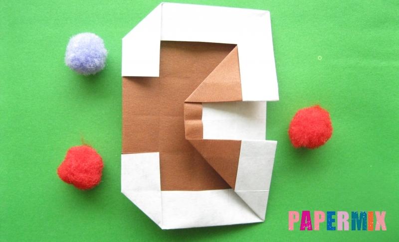 Как сделать цифру 3 из бумаги в технике оригами своими руками