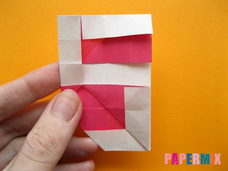 Как сделать цифру 5 из бумаги (оригами) своими руками - шаг 14