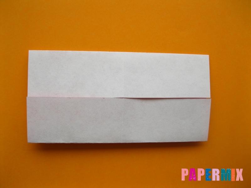 Как сделать цифру 5 из бумаги (оригами) своими руками - шаг 2