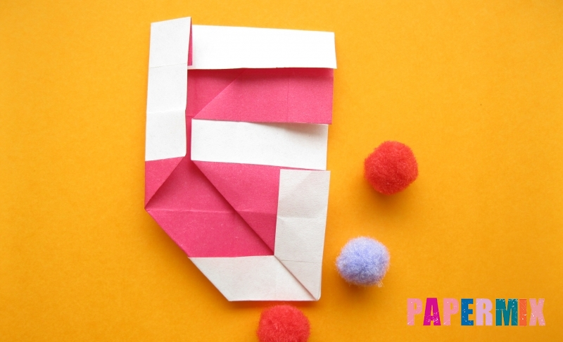 Как сделать цифру 5 из бумаги в технике оригами своими руками