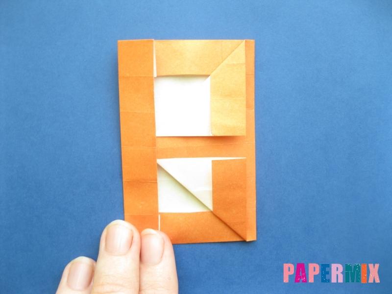 Как сделать цифру 8 из бумаги (оригами) своими руками - шаг 11