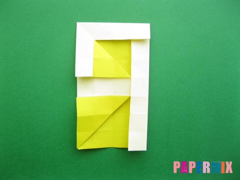 Как сделать цифру 9 из бумаги (оригами) своими руками - шаг 12