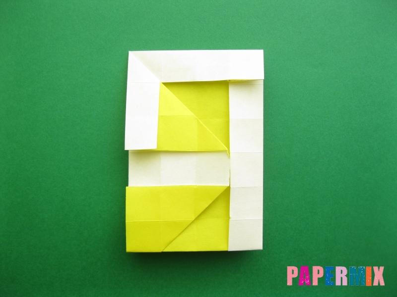 Как сделать цифру 9 из бумаги (оригами) своими руками - шаг 14