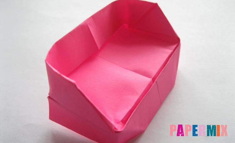 Как сделать диван из бумаги в технике оригами своими руками поэтапно