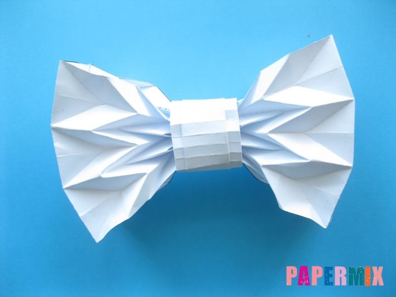 Как сделать галстук бабочку из бумаги своими руками - шаг 15