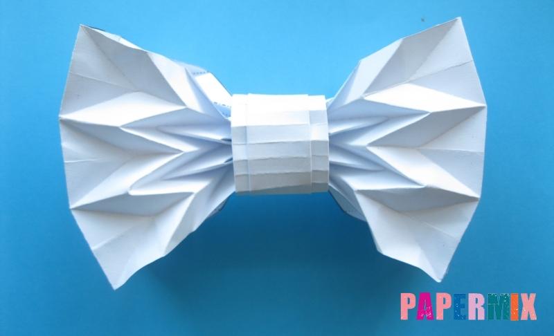 Как сделать галстук бабочку из бумаги своими руками поэтапно