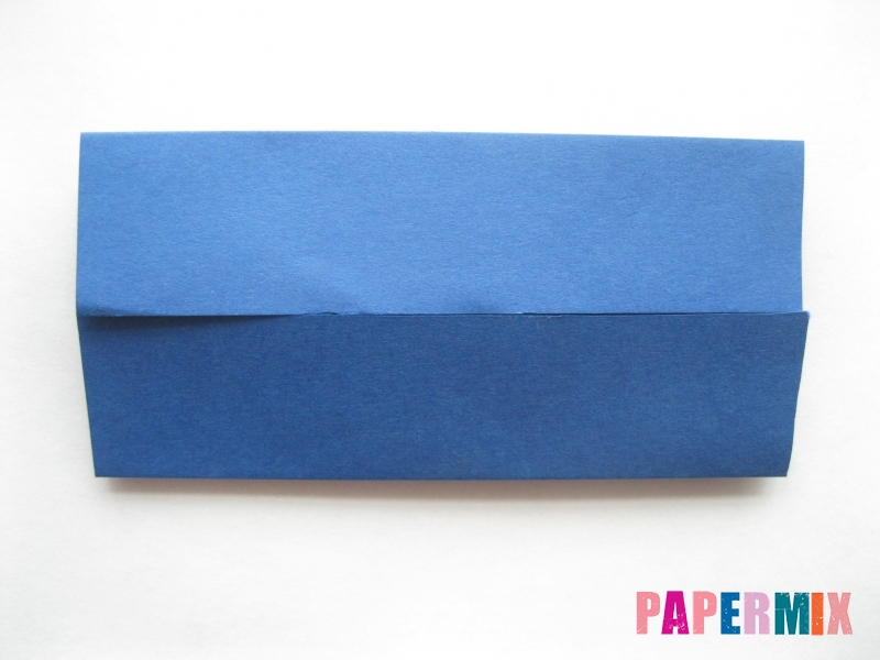 Как сделать книжный шкаф из бумаги (оригами) поэтапно - шаг 2