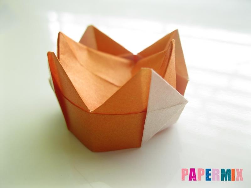 Как сделать корону из бумаги (оригами) своими руками - шаг 17