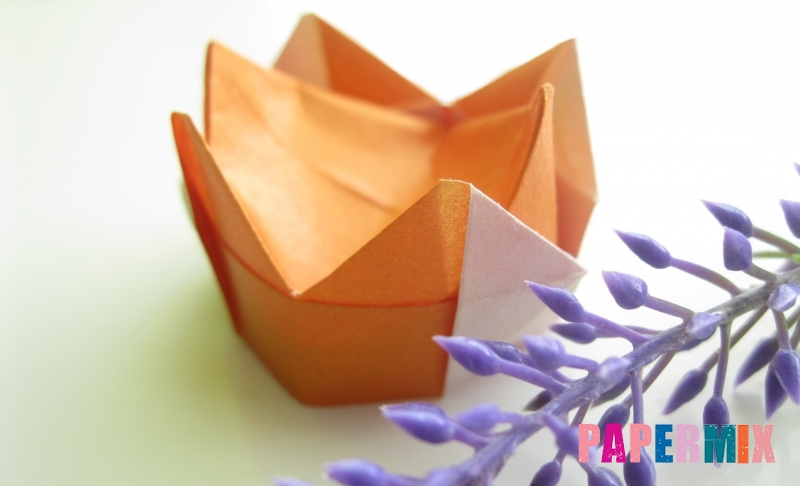 Как сделать золотую корону из бумаги в технике оригами своими руками