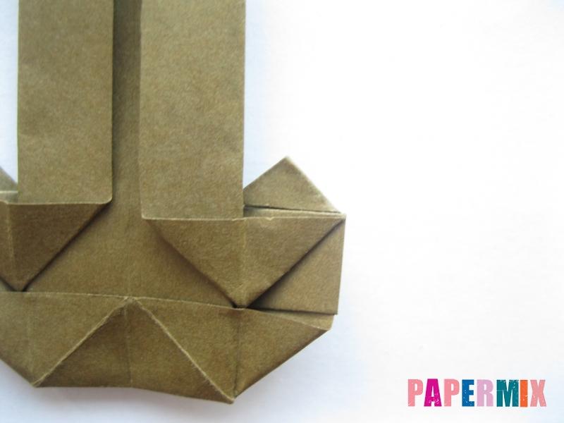Как сделать стул из бумаги (оригами) поэтапно - шаг 18