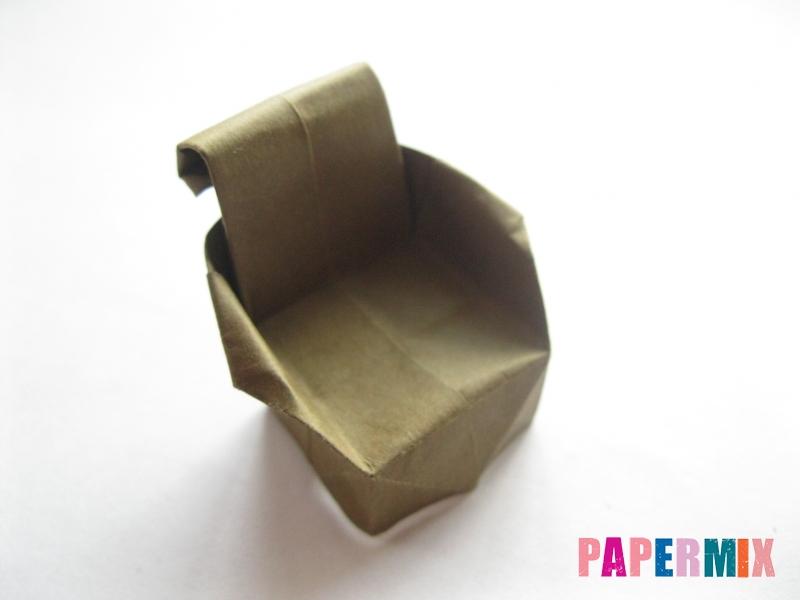 Как сделать стул из бумаги (оригами) поэтапно - шаг 31