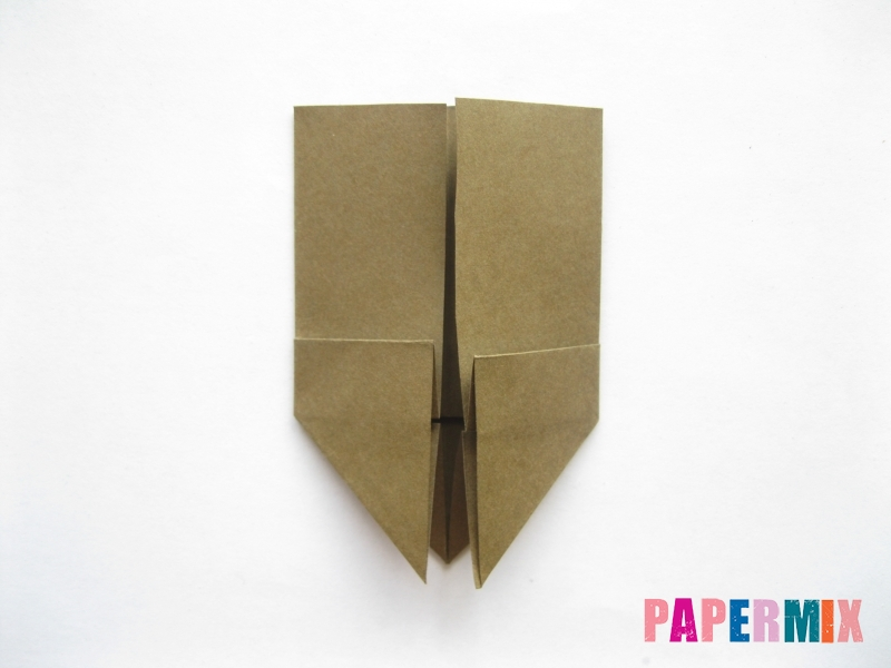 Как сделать кресло из бумаги (оригами) своими руками - шаг 7