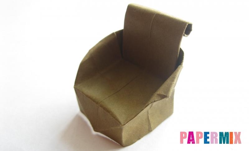 Как сделать кресло из бумаги в технике оригами своими руками поэтапно