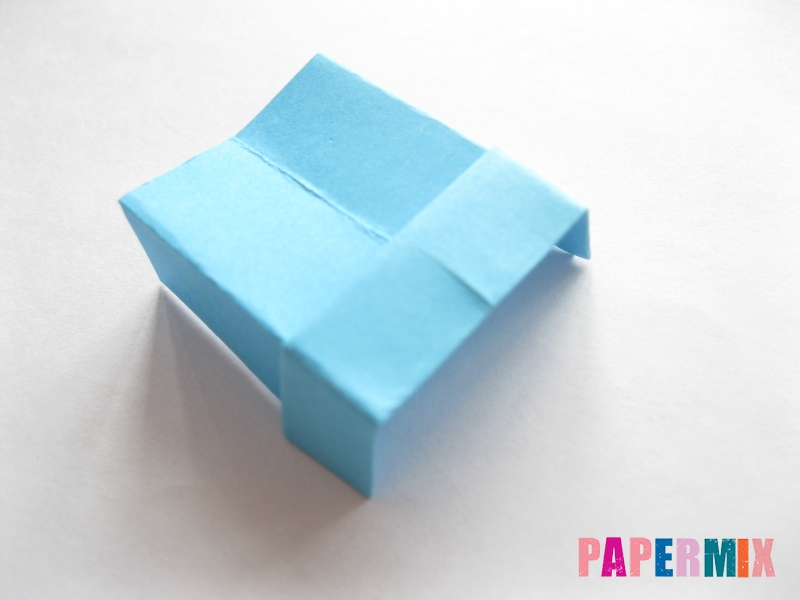 Как сделать кровать из бумаги (оригами) поэтапно - шаг 24