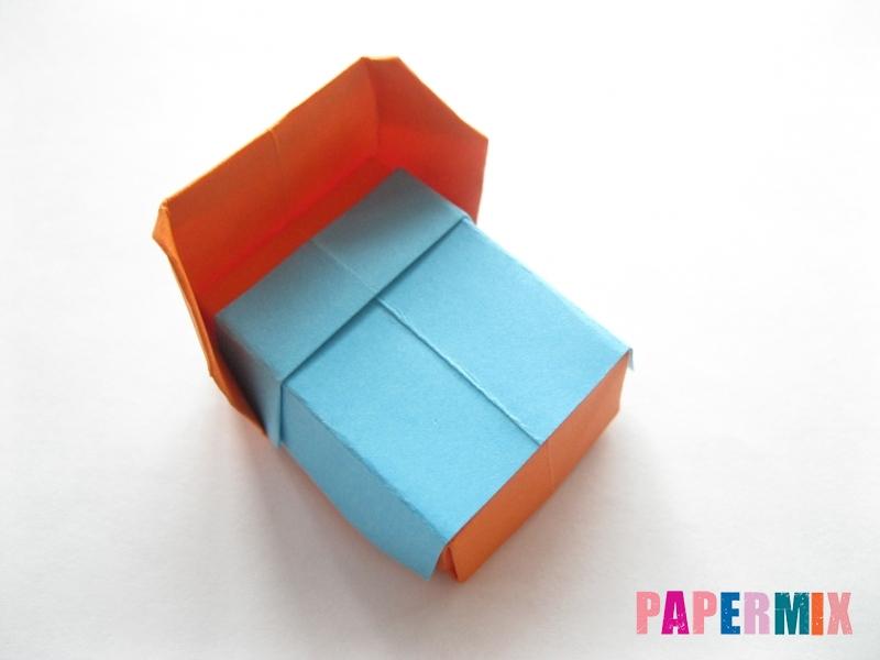 Как сделать кровать из бумаги (оригами) поэтапно - шаг 25