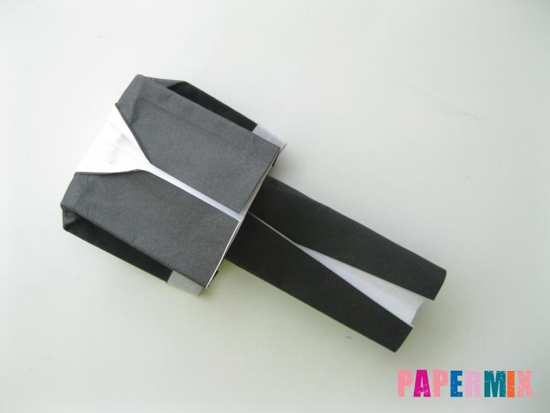Как сделать мужской костюм из бумаги (оригами) - шаг 16