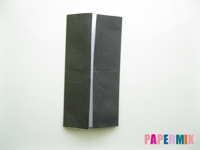 Как сделать мужской костюм из бумаги (оригами) - шаг 2