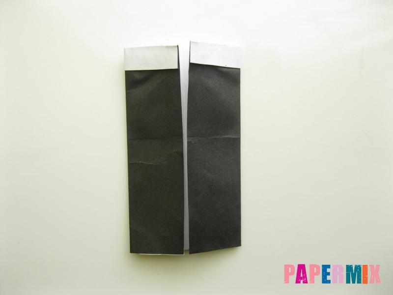 Как сделать мужской костюм из бумаги (оригами) - шаг 5