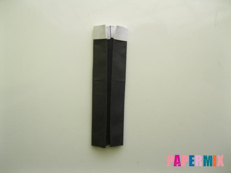Как сделать мужской костюм из бумаги (оригами) - шаг 6