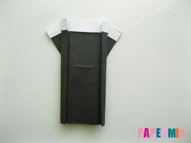 Как сделать мужской костюм из бумаги (оригами) - шаг 9