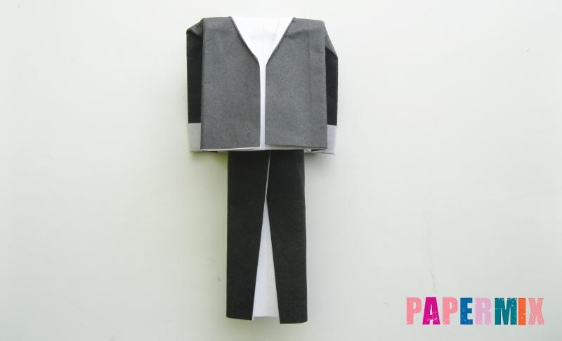 Как сделать мужской костюм из бумаги в технике оригами своими руками