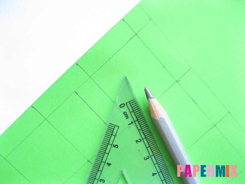 Как сделать объемный квадрат из бумаги поэтапно - шаг 1