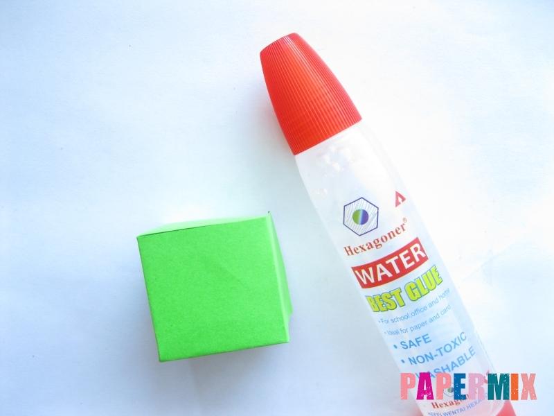 Как сделать объемный квадрат из бумаги поэтапно - шаг 5