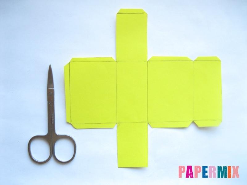 Как сделать параллелепипед из бумаги схема - шаг 2