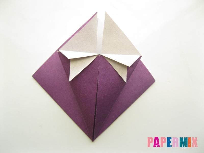 Как сделать платье из бумаги (оригами) своими руками - шаг 12