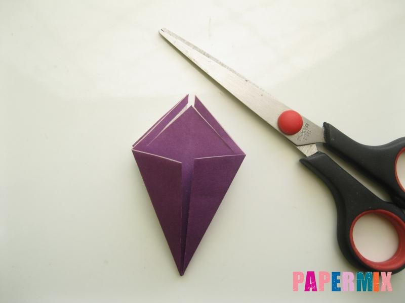 Как сделать платье из бумаги (оригами) своими руками - шаг 15