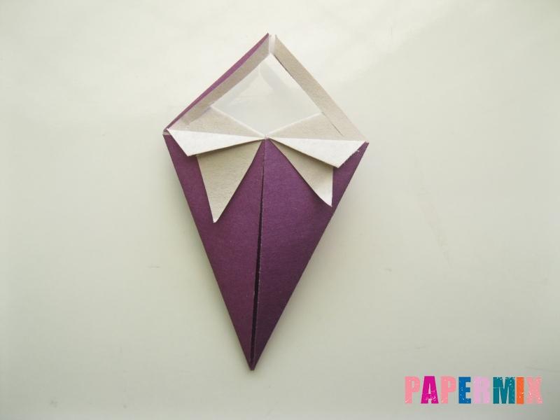 Как сделать платье из бумаги (оригами) своими руками - шаг 17