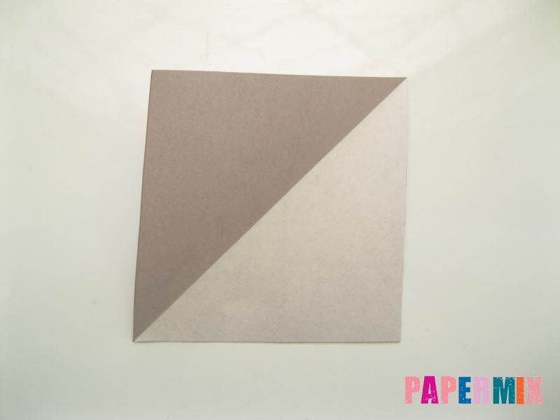 Как сделать платье из бумаги (оригами) своими руками - шаг 2