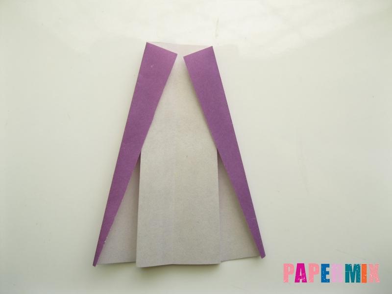 Как сделать платье из бумаги (оригами) своими руками - шаг 22