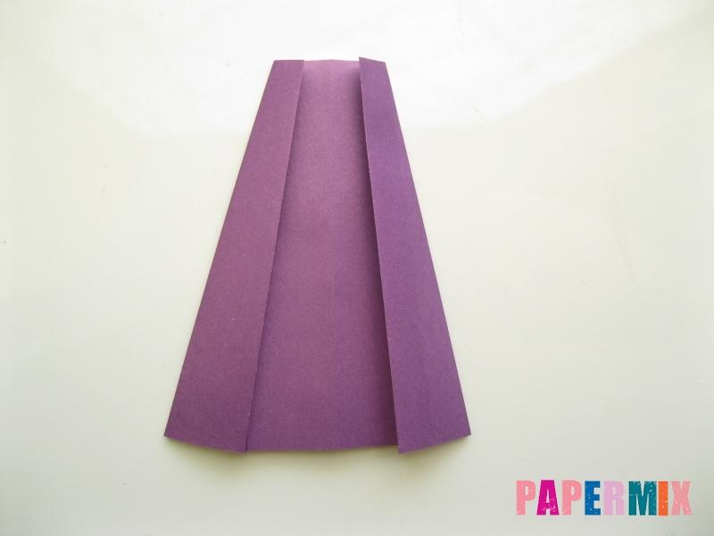 Как сделать платье из бумаги (оригами) своими руками - шаг 23